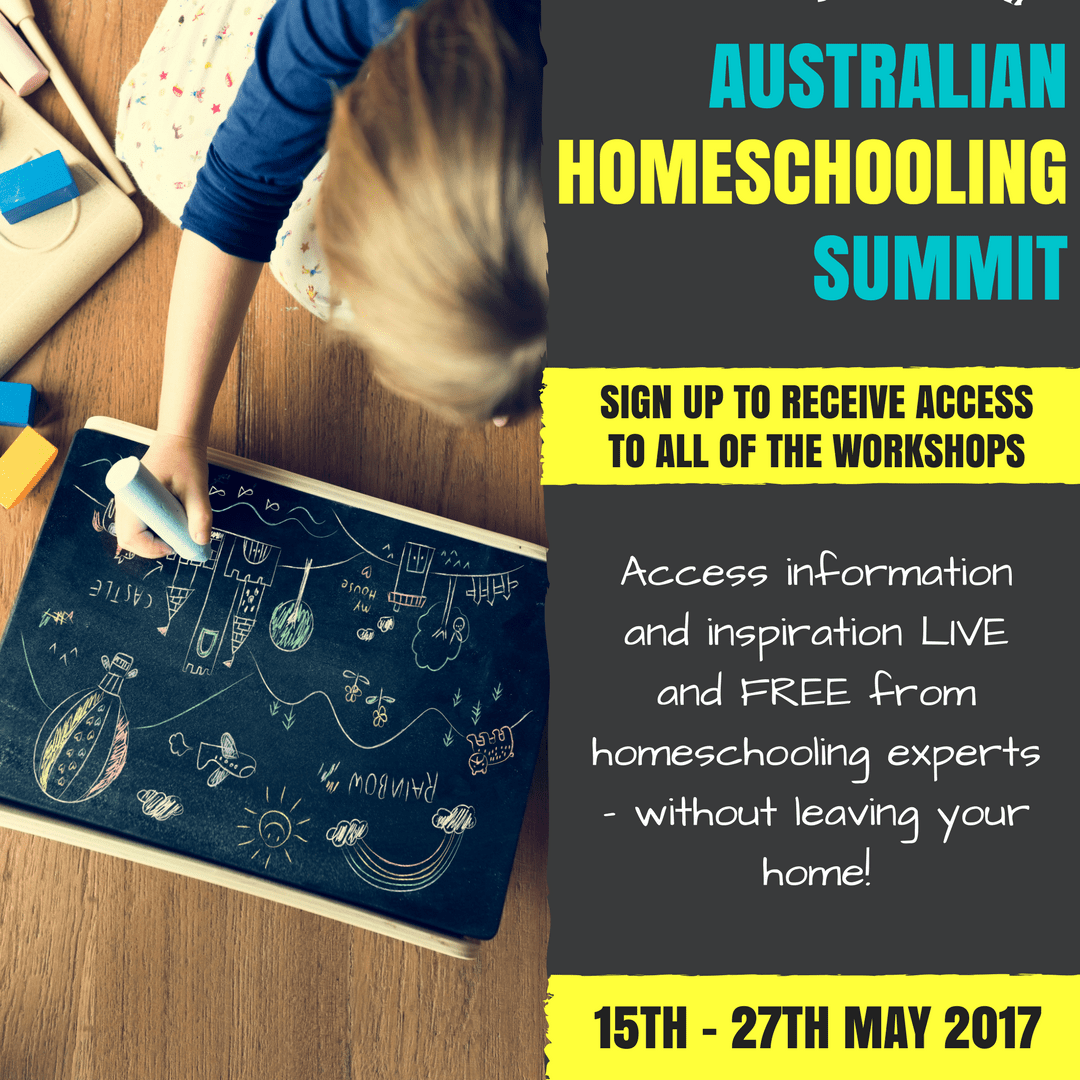 Australian Homeschooling Summit - free, live and online homeschooling workshops!