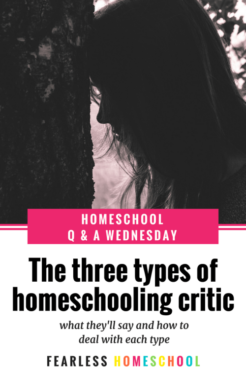 The three types of homeschooling critic and how to deal with each one - Fearless Homeschool