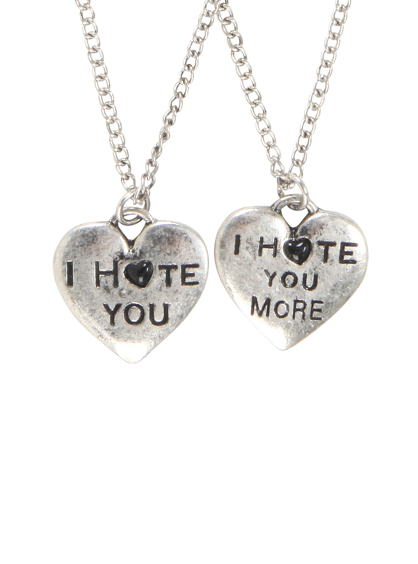 I Hate You Bff Necklace Set Fear My Style