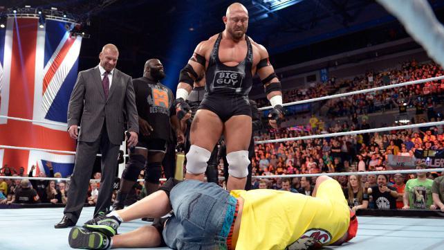 Raw Ryback John Cena Triple H 11:10:14