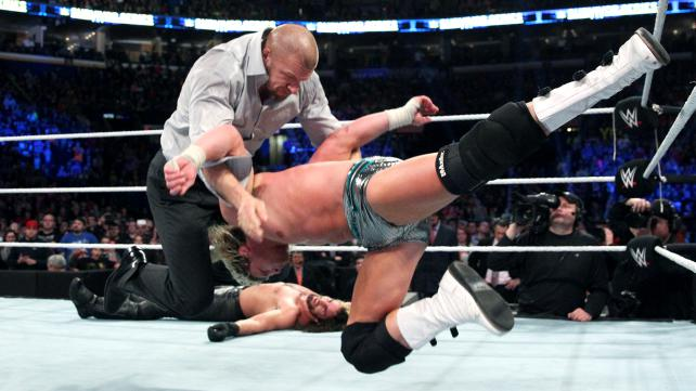 Triple H Pedigrees Dolph Ziggler