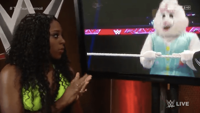 WWE Naomi watches The Bunny