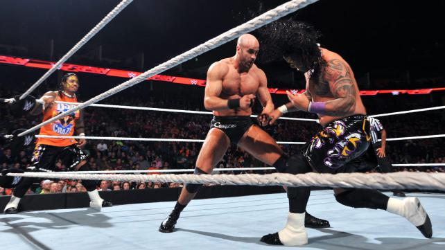 WWE Cesaro vs the usos