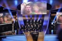 (top L-R) Portugal's Cristiano Ronaldo,