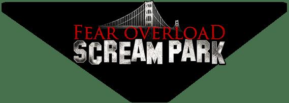 The Fear Overload Scream Park website logo.