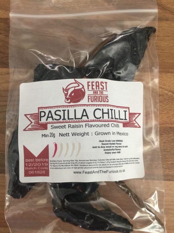 Pasilla Chilli Whole