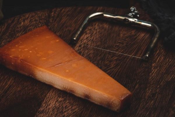 oak/beech wood smoked parmesan cheese