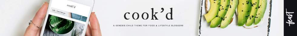 Cook'd Pro Responsive Minimalist Food Blog Theme