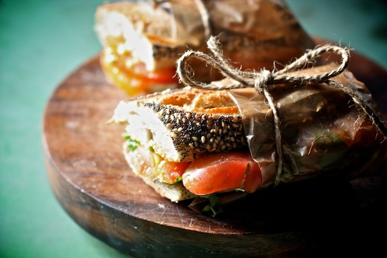 simple delicious recipe for heirloom tomato sandwich with basil and ...