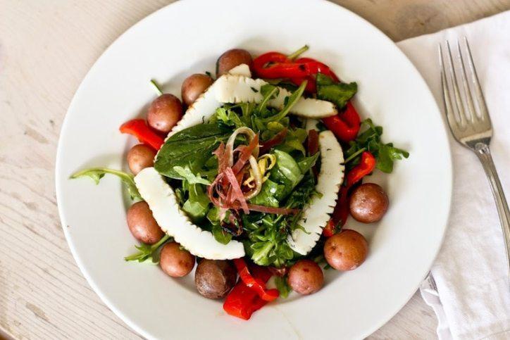 Grilled Calamari Salad