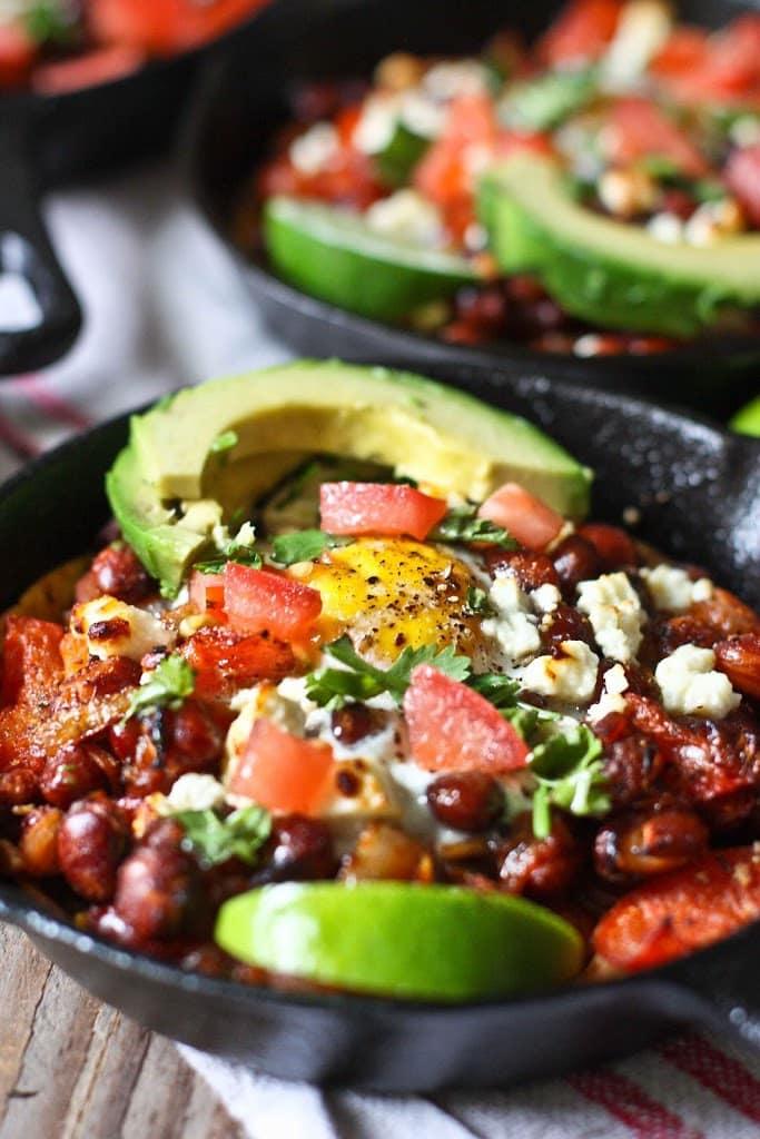 Huevos Rancheros - Skillet Eggs | Feasting At Home