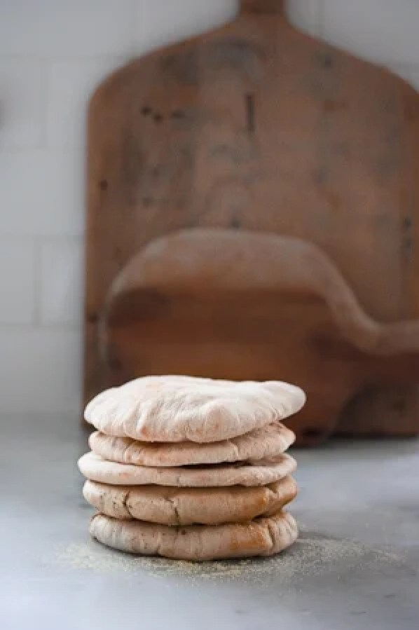 Homemade Pita Bread- so easy, a fun thing to do with kids! | www.feastingathome.com
