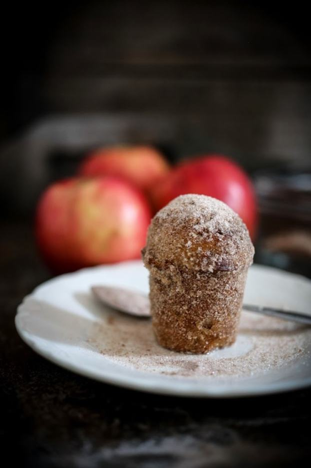 """Apple Brown Butter Bouchons ( also called """" donut muffins """")  --these delicious guys are very easy to make and so delicious. Baked instead of fried they are healthier than donuts.   www.feastingathome.com"""