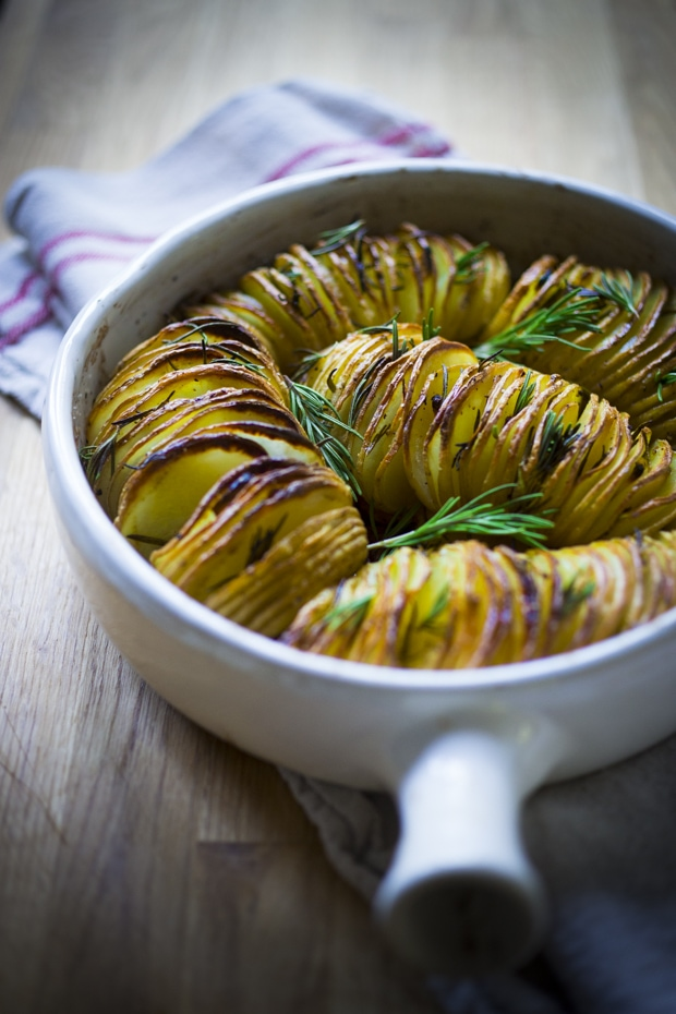 Rosemary Garlic Hasselback Potatoes Feasting At Home
