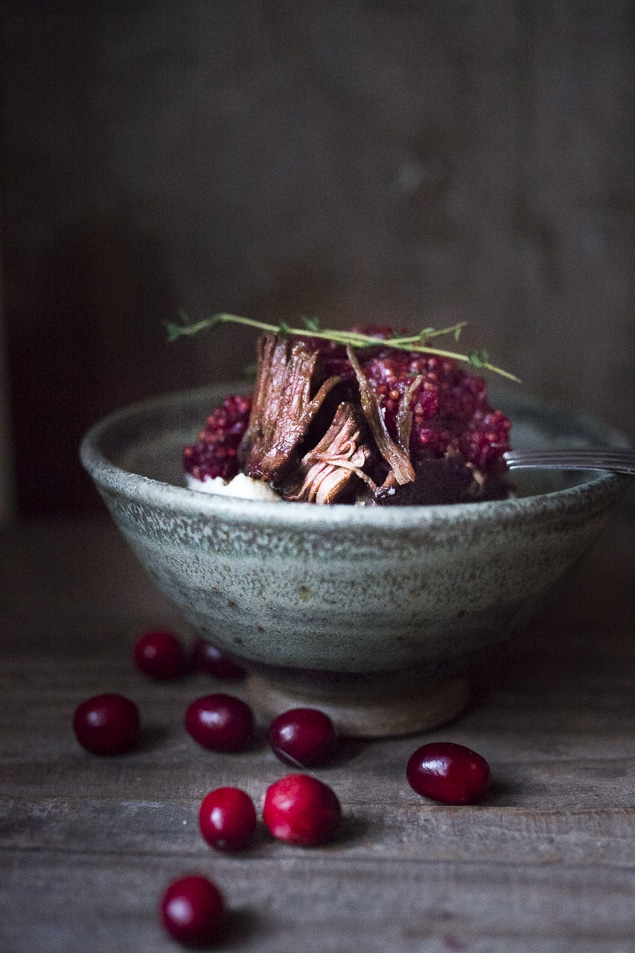 Cranberry Pot Roast | www.feastingathome @feastingathome