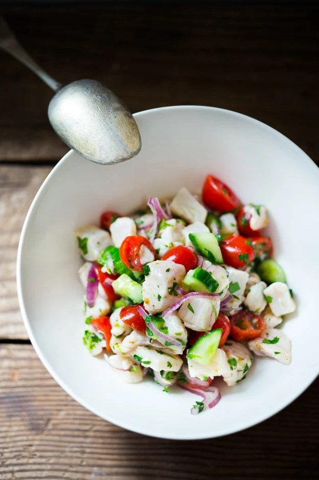 Easy ceviche recipe feasting at home for Easy healthy fish recipes