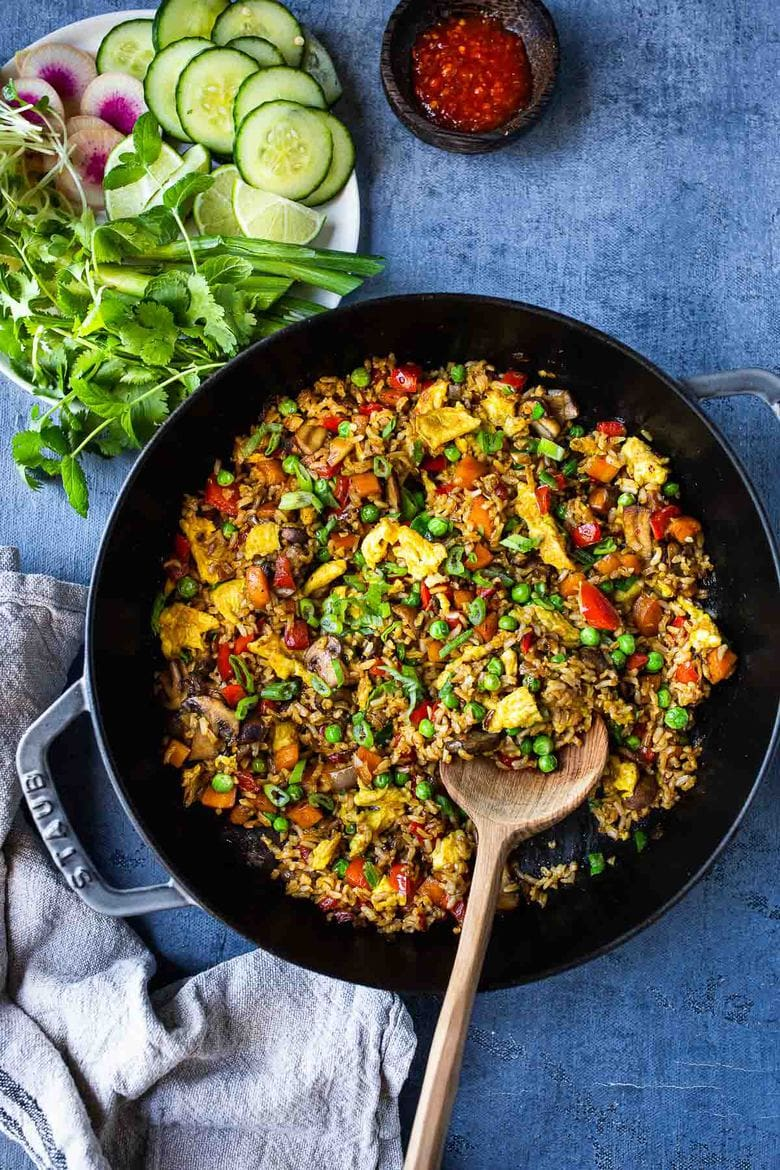 Nasi Goreng Vegetarian : goreng, vegetarian, Goreng, (Indonesian, Fried, Rice!), Feasting