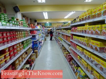 A treasure-filled Korean supermarket.