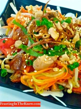 Roast duck salad