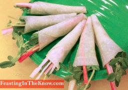 Koreanfoodsavouryradishcanapessam