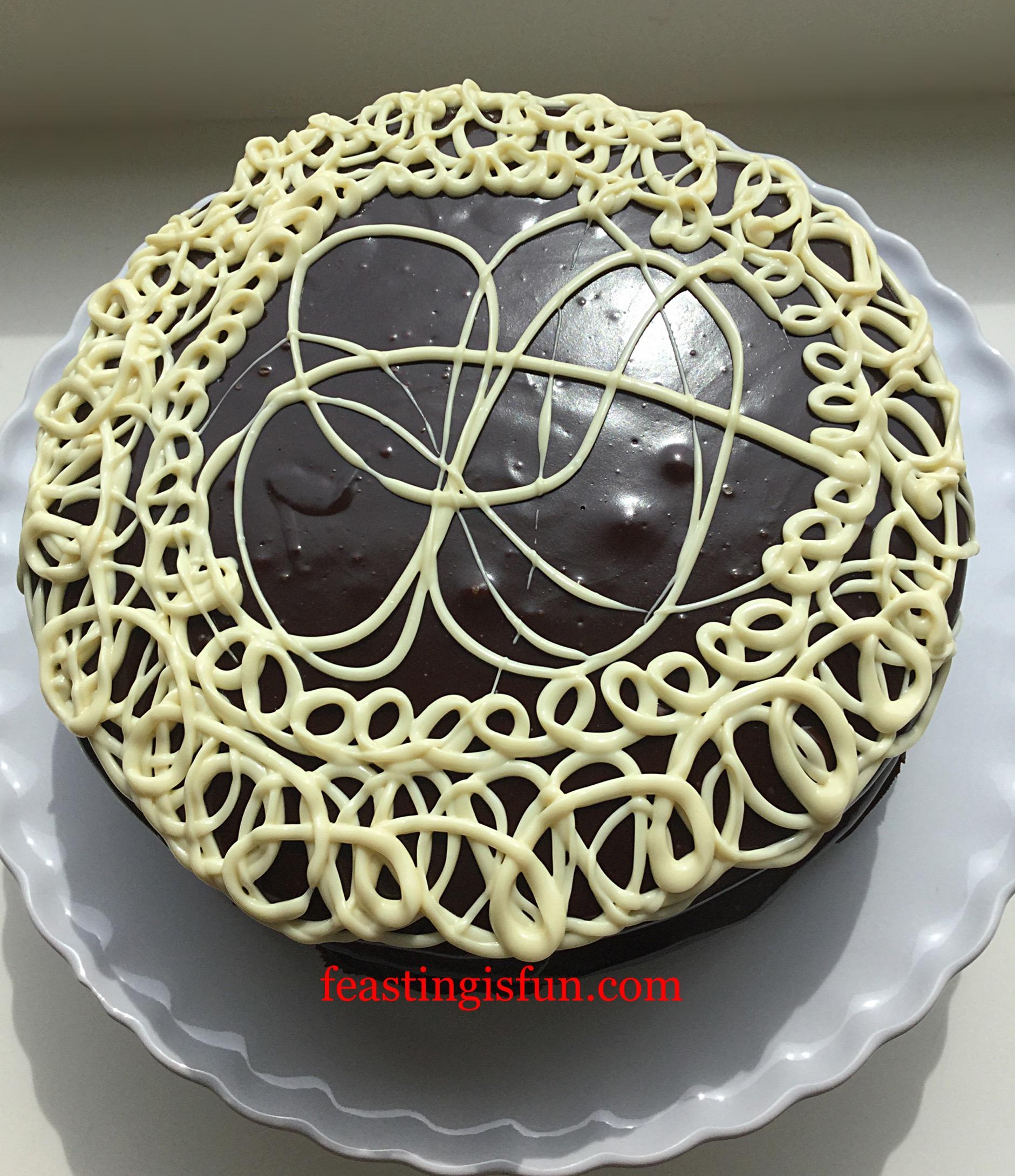 White Chocolate Swirl Fudge Cake Feasting Is Fun