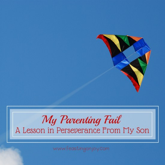 My Parenting Fail A Lesson in Perseverance From My Son I | Feasting On Joy