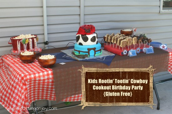 Kids Rootin' Tootin' Cowboy Cookout Birthday Party Gluten Free