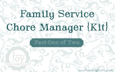 Family Service Chore Manager Kit Part One of Two