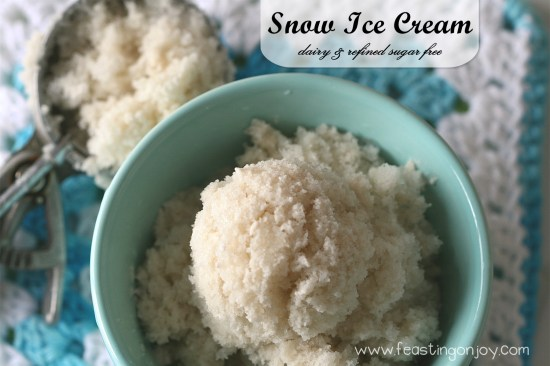Diary and refined sugar free snow ice cream 1
