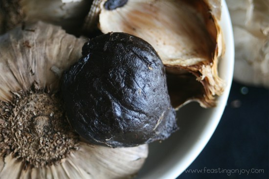Fermented Black Garlic Close Up