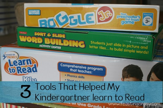 3 Tools that helped my kindergartner learn to read
