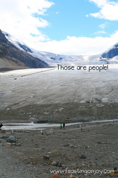 Those are people Athabasca Glacier