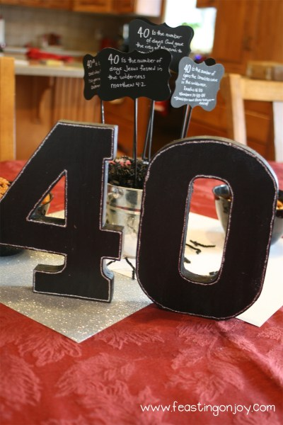 Fortieth Birthday Party Tablescape 2