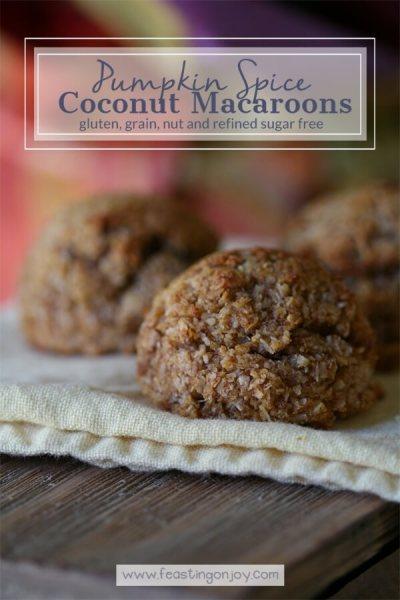 Pumpkin Spice Macaroons {Gluten Free Grain Free Refined Sugar Free} | Feasting On Joy