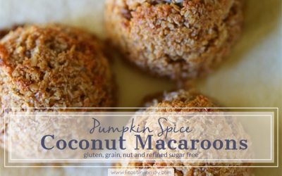 Pumpkin Spice Coconut Macaroons {grain, gluten, dairy and refined sugar free}