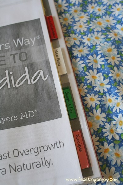 Dr. Amy Myers Candida Control Program Printed with Dividers