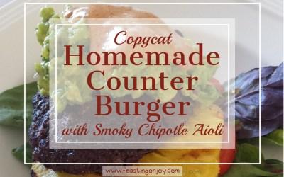 Copycat Homemade Counter Burger With Smoky Chipotle Aioli