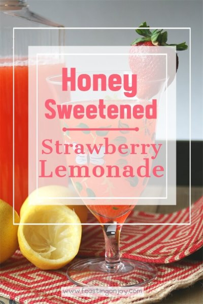 Honey Sweetened Strawberry Lemonade {AIP & GAPS Friendly} | Feasting On Joy