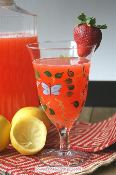 Honey Sweetened Strawberry Lemonade {AIP & GAPS Friendly} 2 | Feasting On Joy