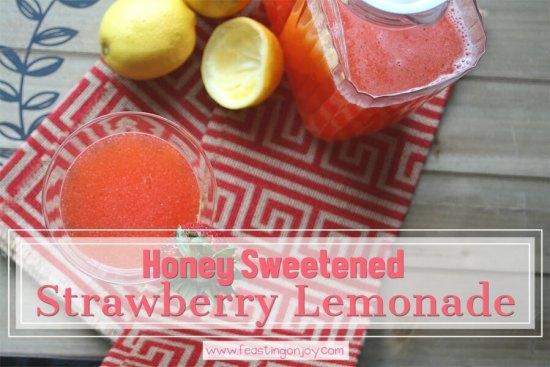 Honey Sweetened Strawberry Lemonade {AIP & GAPS Friendly} 1 | Feasting On Joy