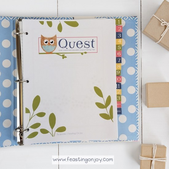 QUEST {Quiet Unmatched Enjoyable Scripture Writing Time}} | Feasting On Joy