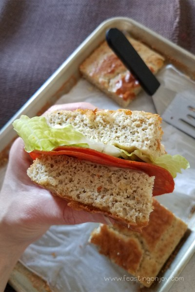 Nut Free Paleo Blender Bread 2 | Feasting On Joy