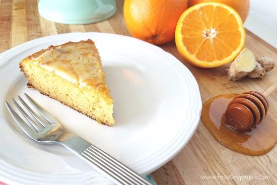 Decadent Grain Free Orange Ginger Honey Cake 3 | Feasting On Joy