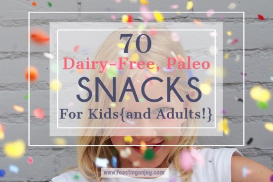 70 Dairy-Free, Paleo Snacks for Kids {and adults!} 1 | Feasting On Joy