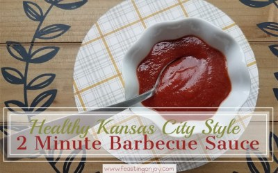 Healthy, Kansas City Style 2 Minute Barbecue Sauce
