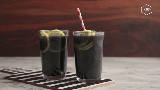 Activated Charcoal Lemonade with Collagen 2 | Feasting On Joy
