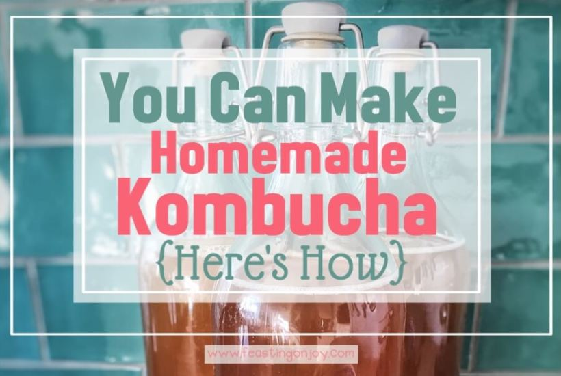 You Can Make Homemade Kombucha {Here's How}