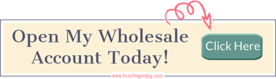 Open My Wholesale Account Today | FeastingOnJoy Oils