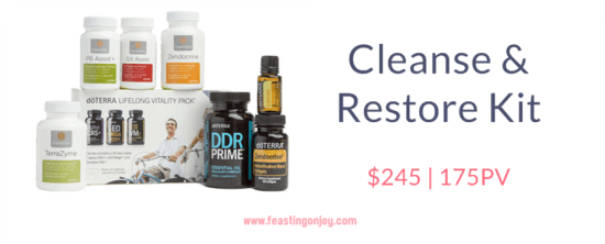 Buy doTERRA Essential Oils Cleanse and Restore Kit | FeastingOnJoy Oils
