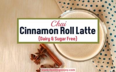 Chai Cinnamon Roll Latte {Dairy & Sugar Free}